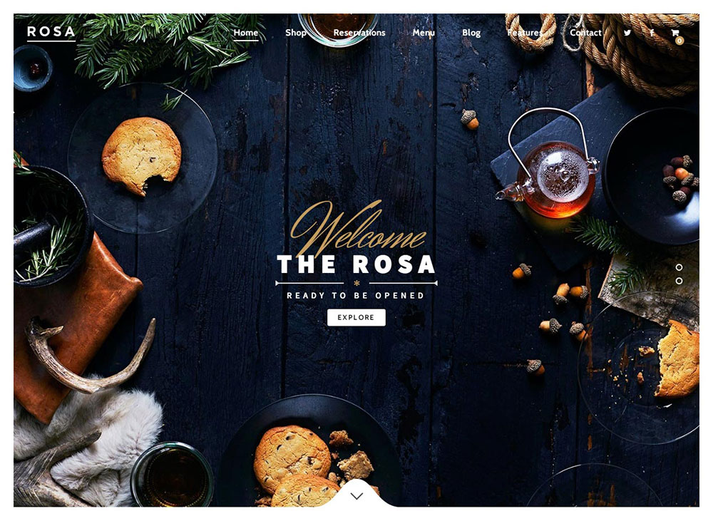 ROSA Restaurant Theme Preview