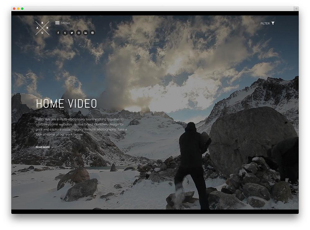 ROUA fullscreen theme
