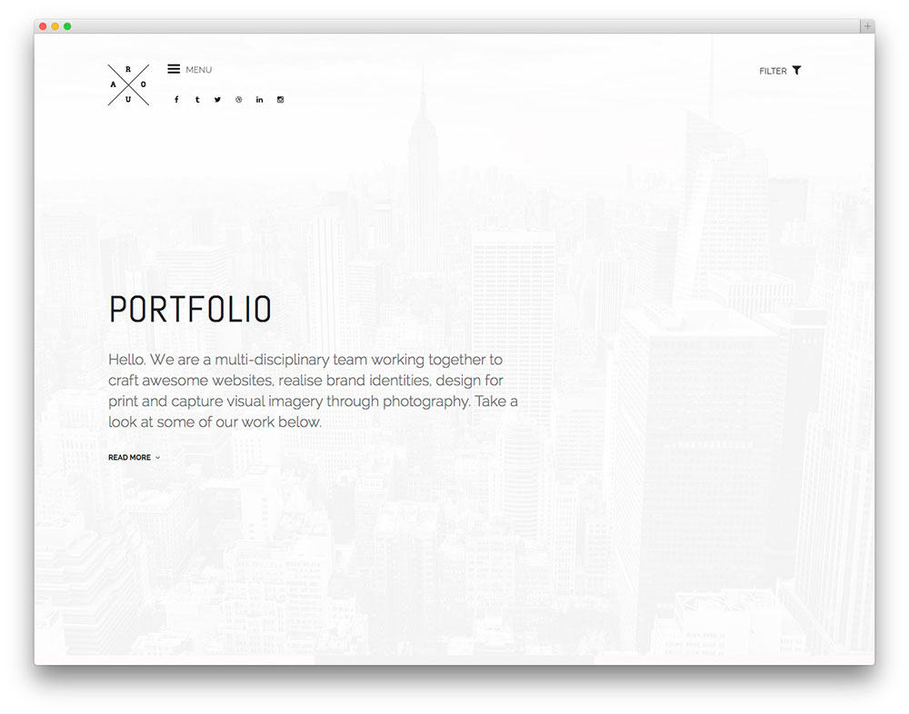 40 best minimalist wordpress themes for creatives 2018 for Minimalist writing