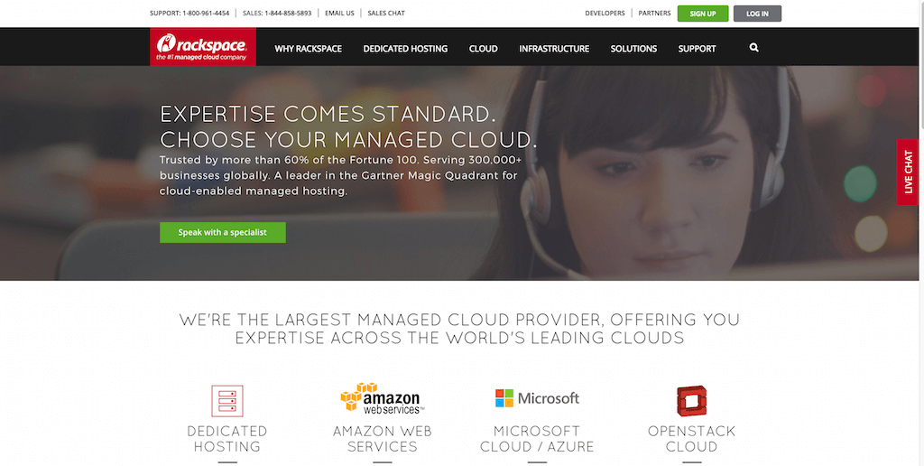 Rackspace Managed Dedicated Cloud Computing Services