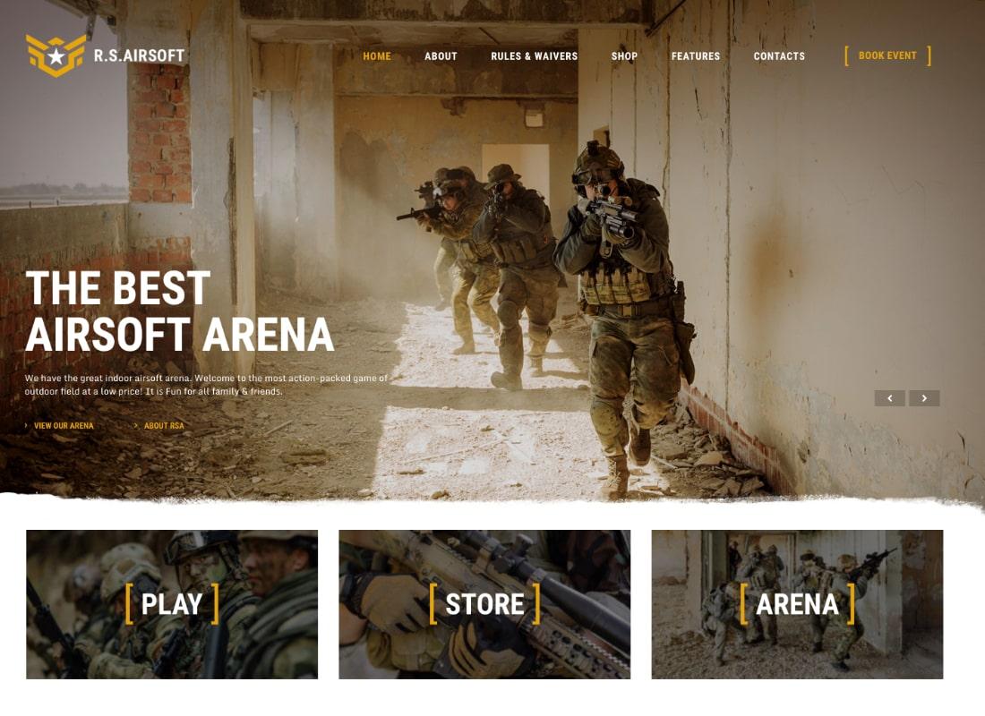 Raider Spirit | Airsoft Club & Paintball WordPress Theme