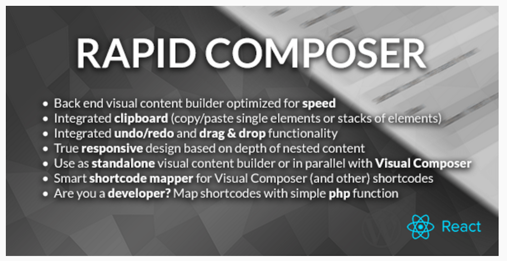 Rapid Composer WordPress Page Builder WordPress CodeCanyon