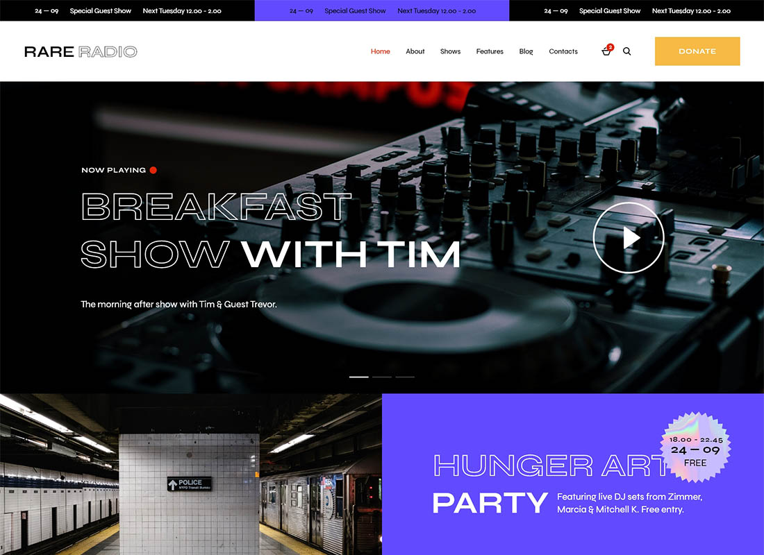 Rare Radio | Online Music Radio Station & Podcast WordPress Theme