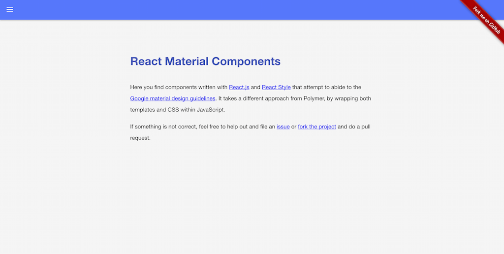 React Material Components