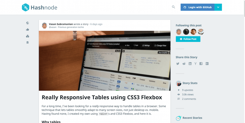 Really Responsive Tables using CSS3 Flexbox Hashnode