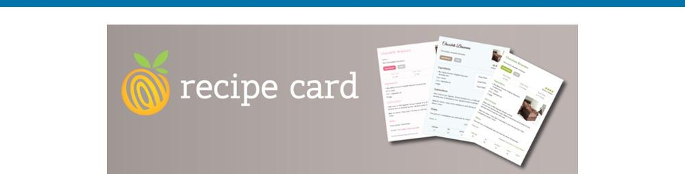 WordPress Recipe Plugins -Recipe Card