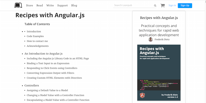 Recipes with Angular