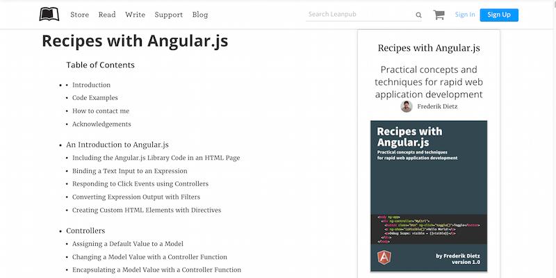 Recipes with Angular