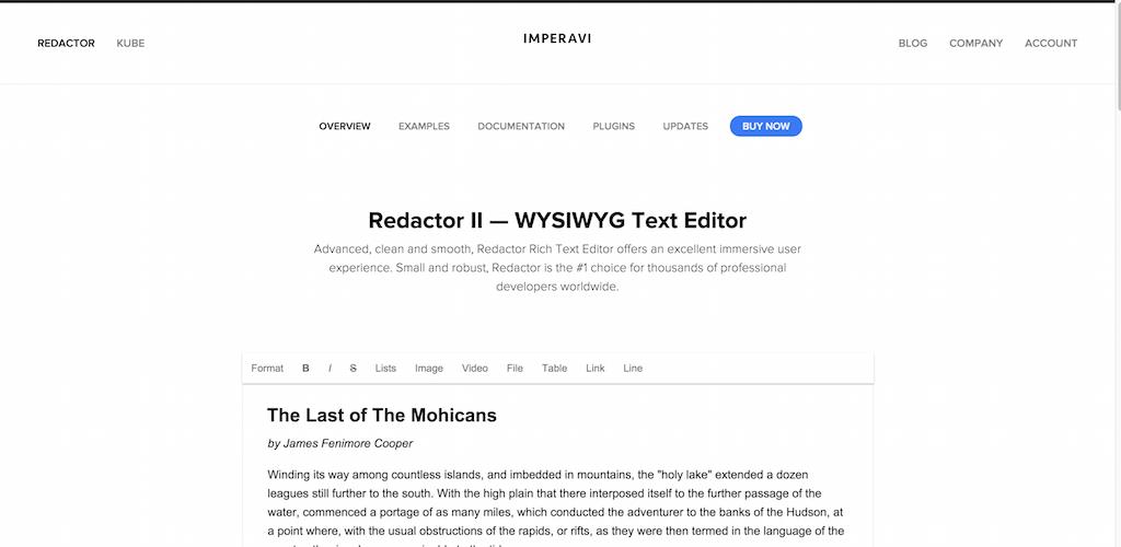 Redactor WYSIWYG html editor
