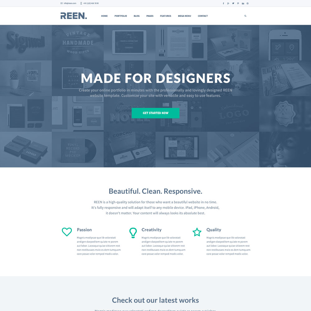 Free PSD One Page Templates
