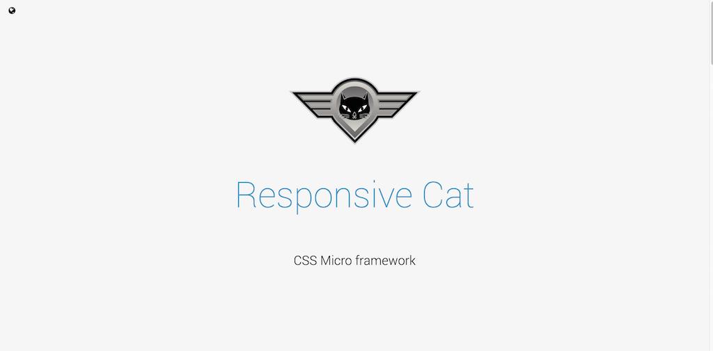 Responsive Cat CSS Micro framework