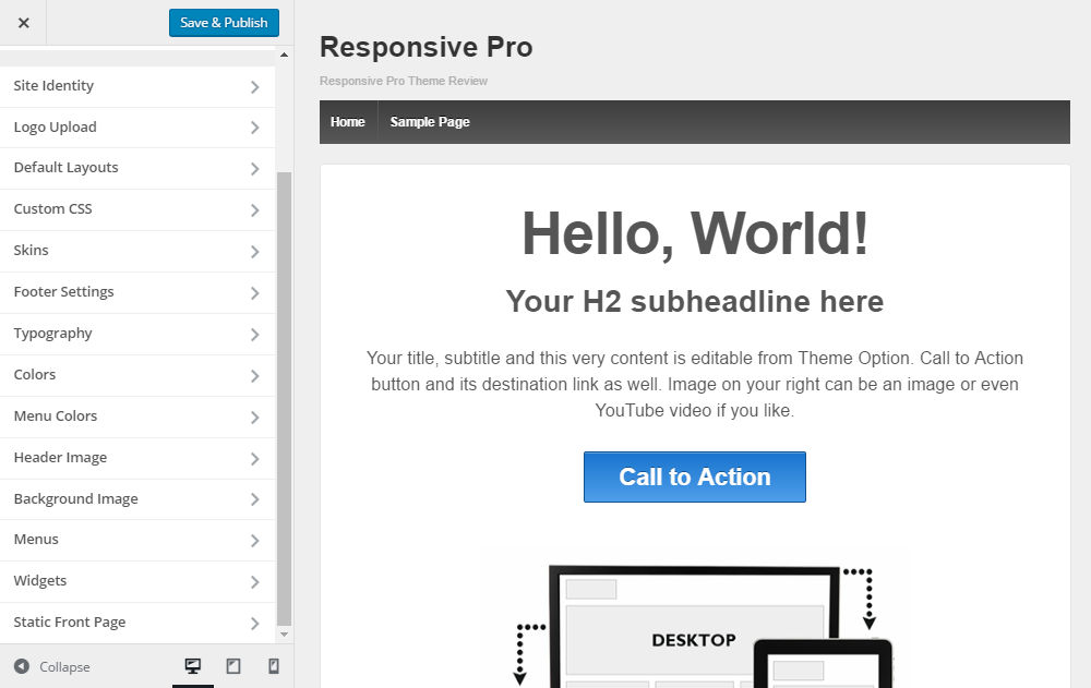 Responsive Pro Review Customizer