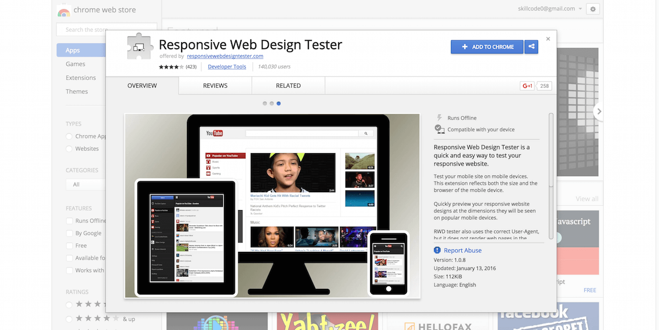 Responsive Web Design Tester Chrome Web Store