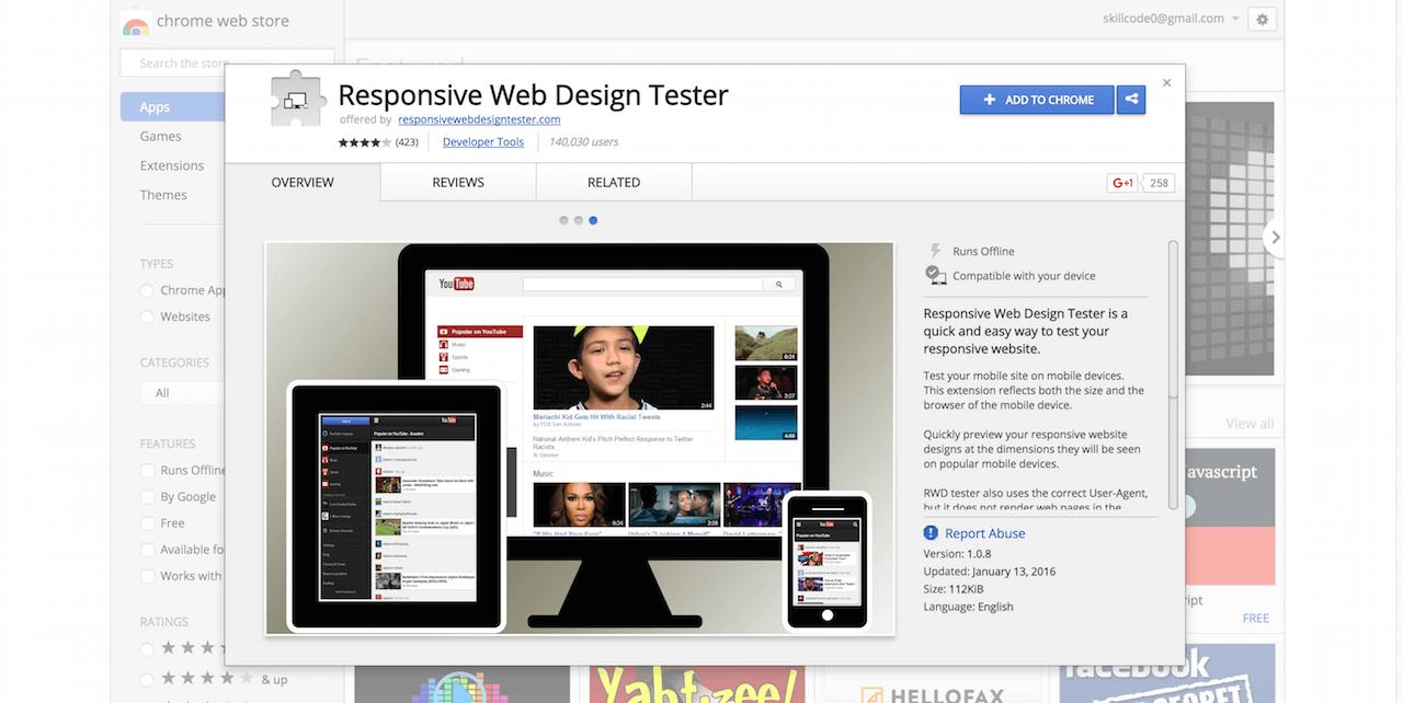 Responsive Web Design Tester Chrome Web Store