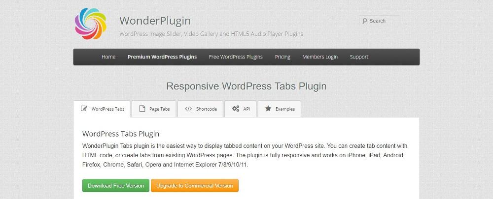 Responsive WordPress Tabs Plugin