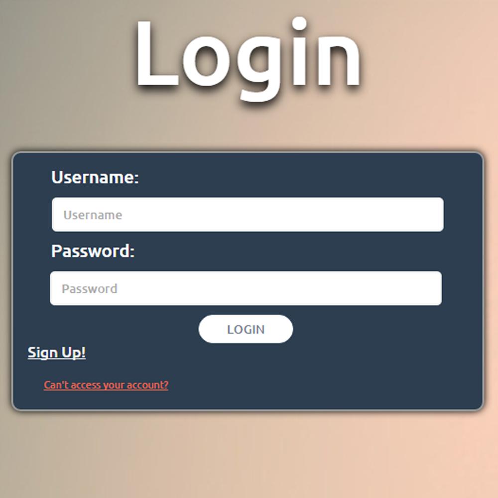 Responsive Login CSS3 HTML5