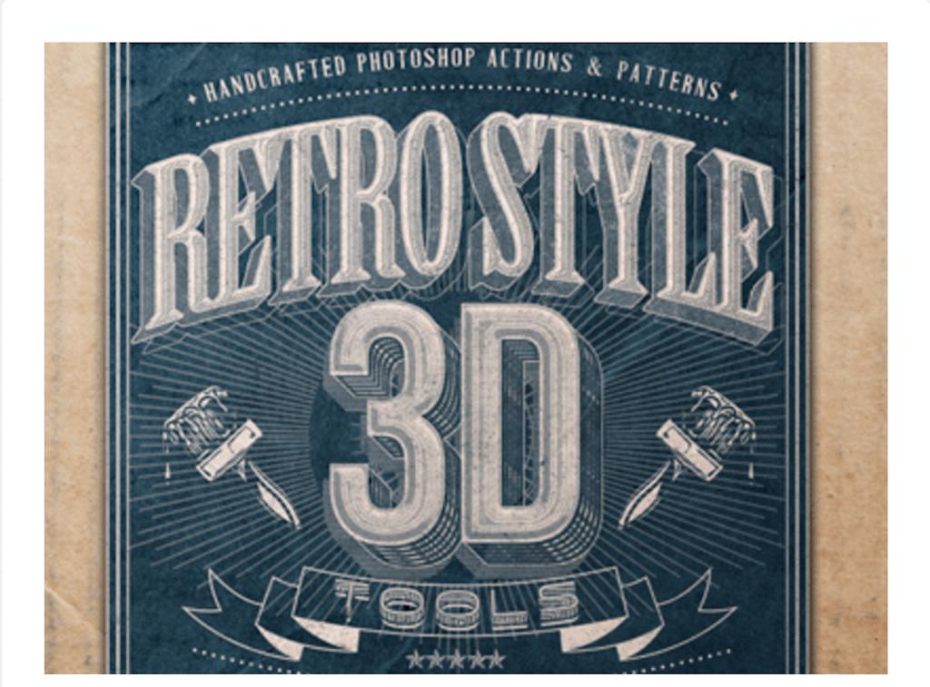 Retro Style 3d Tools