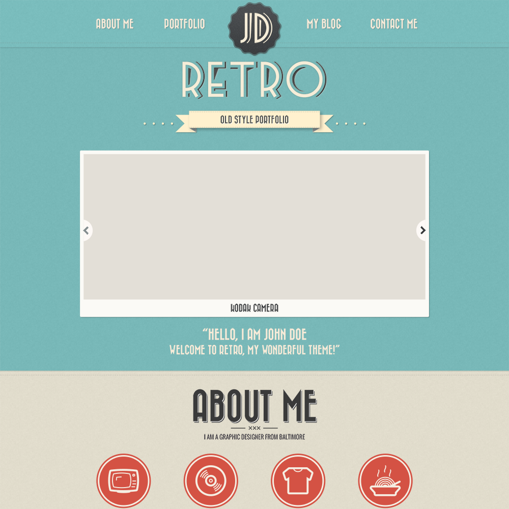 Free psd portfolio and resume website templates in 2017 colorlib free retro psd portfolio template pronofoot35fo Choice Image