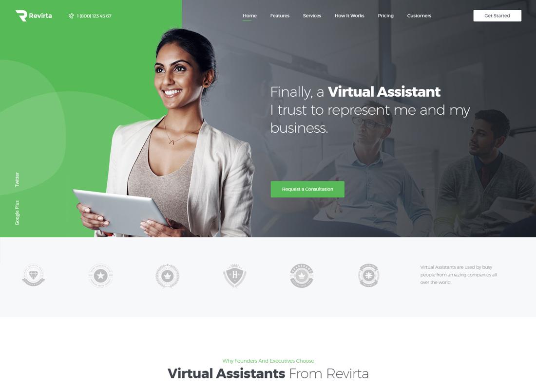 Revirta   Virtual Assistant WordPress Theme