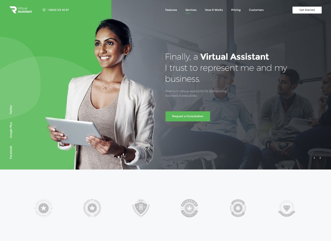 Virtual Assistant WordPress Theme