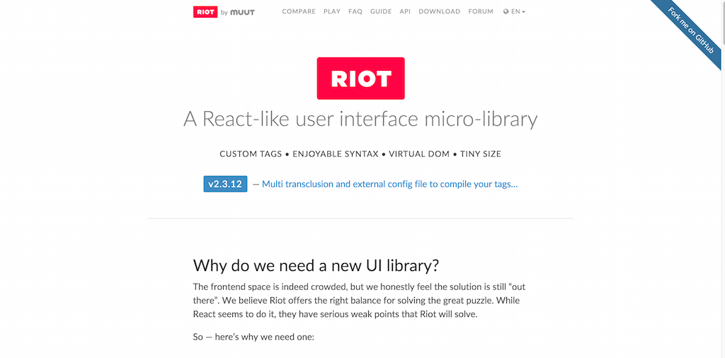 Riot.js â A React like user interface micro library