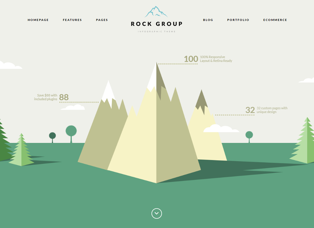 Rock Group | A Flat Multipurpose Infographic WordPress Theme