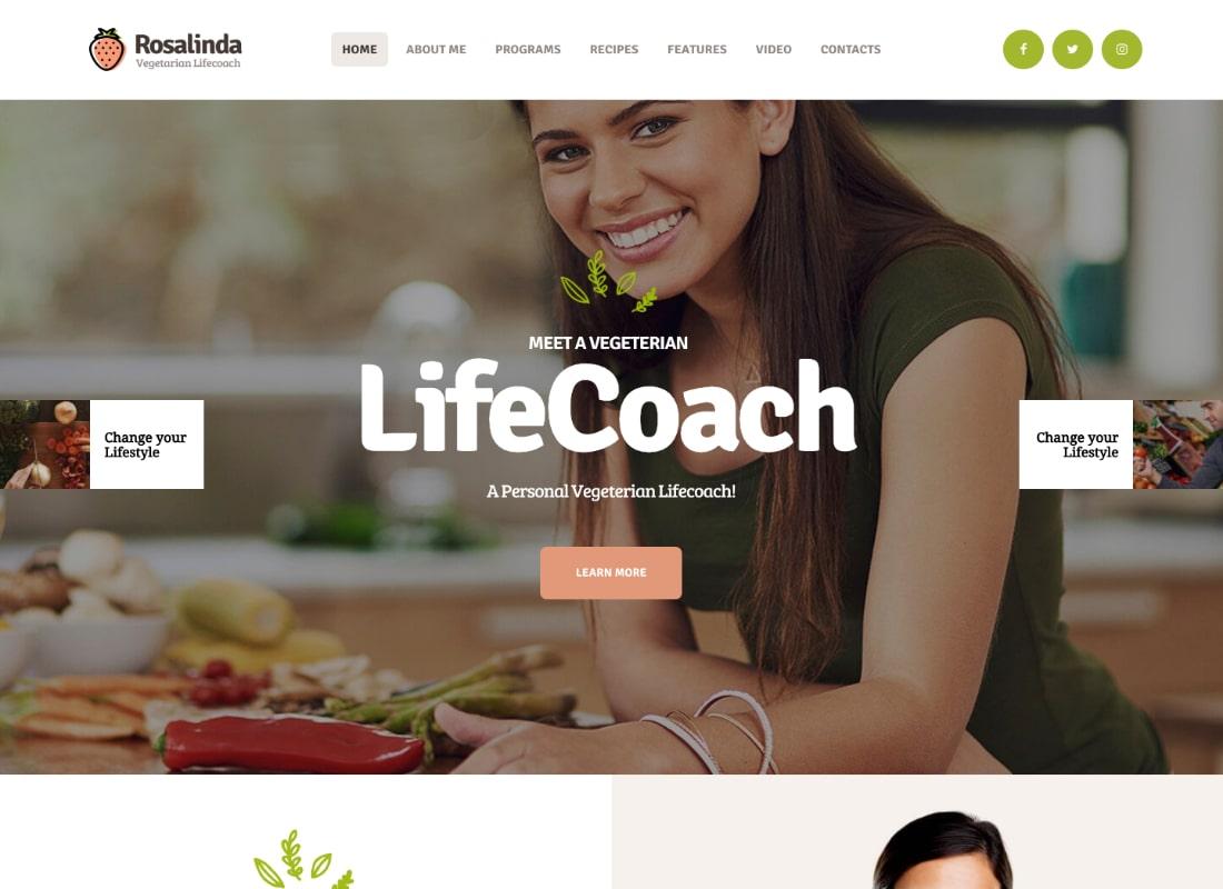 Rosalinda | Health Coach & Vegetarian Lifestyle Blog WordPress Theme