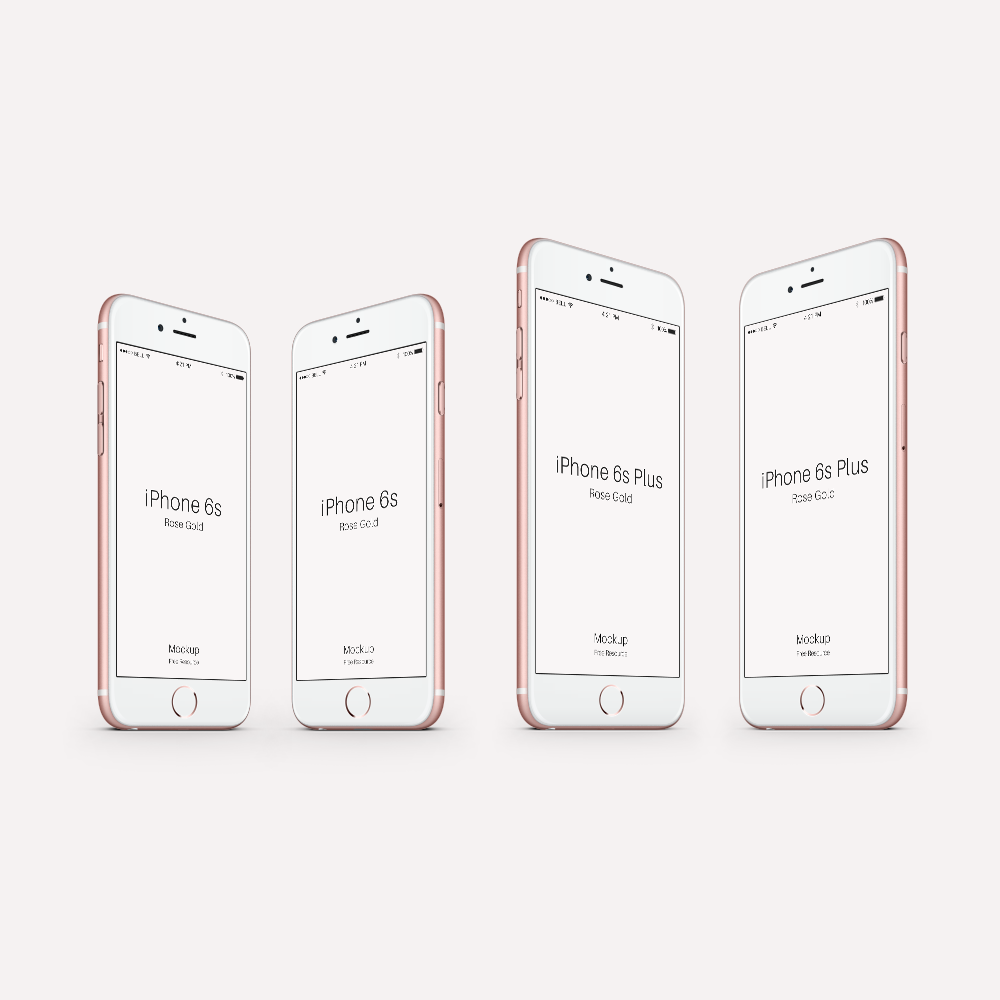 Free PSD iPhone 6 Mockup Rose Gold