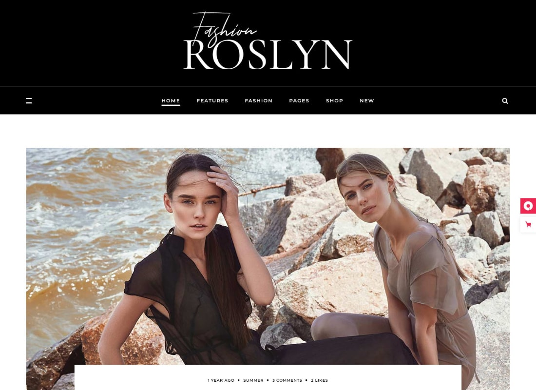 Roslyn | Fashion and Lifestyle Theme for Bloggers and Magazines