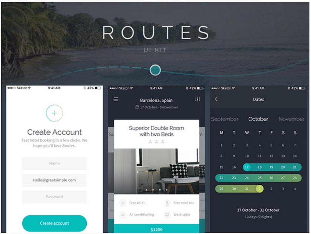 Routes UI kit for iOS