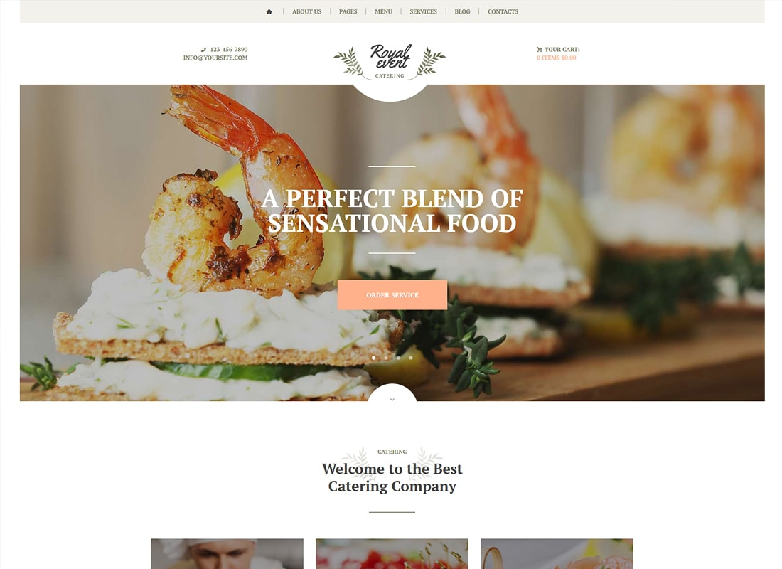 Royal Event | Event Planner & Catering Company Luxury WordPress Theme