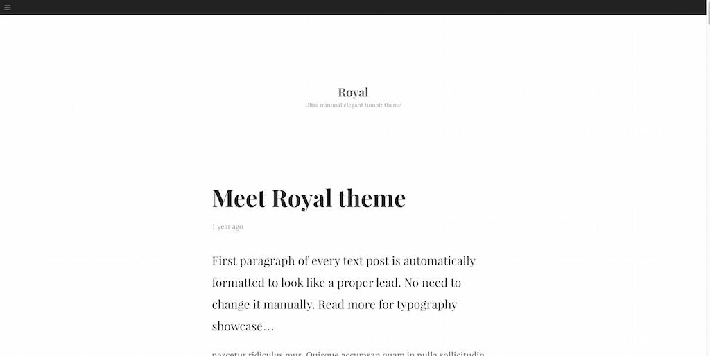 Tumblr Theme - Royal