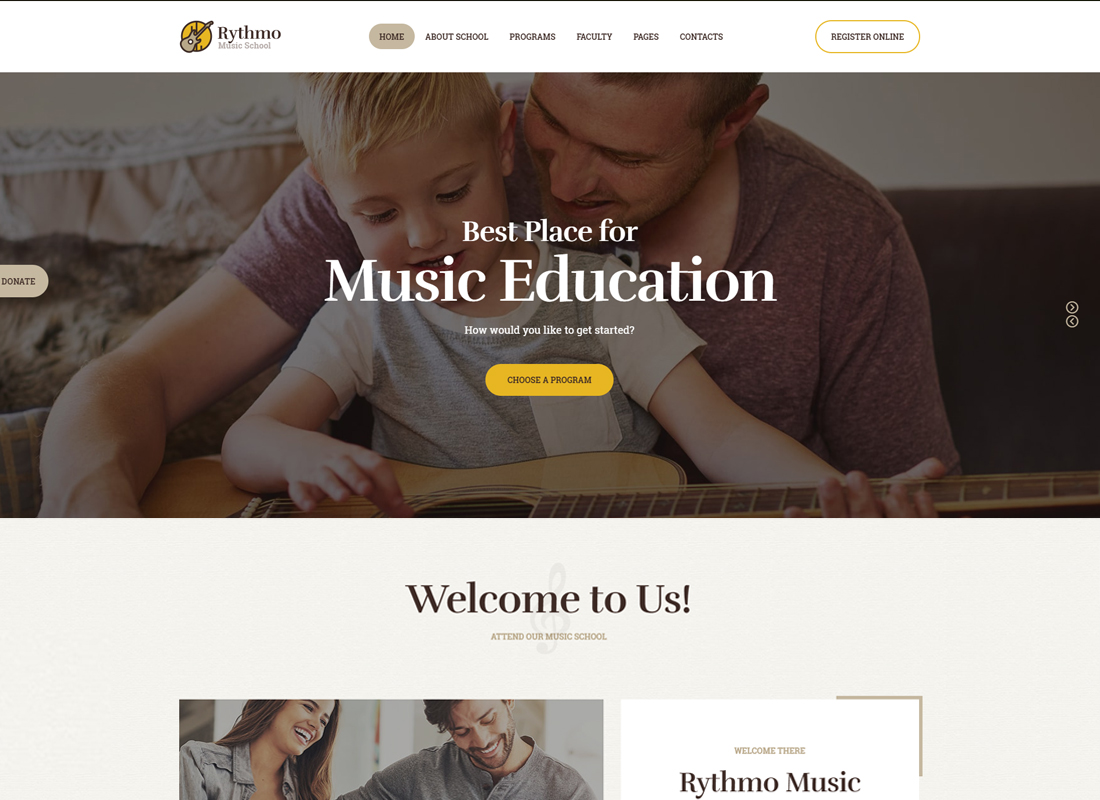 Rythmo - Music School WordPress Theme