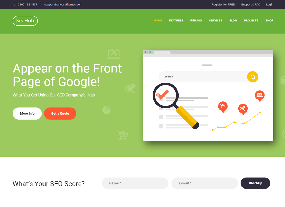 SEOHub - A Colorful SEO & Marketing WordPress Theme