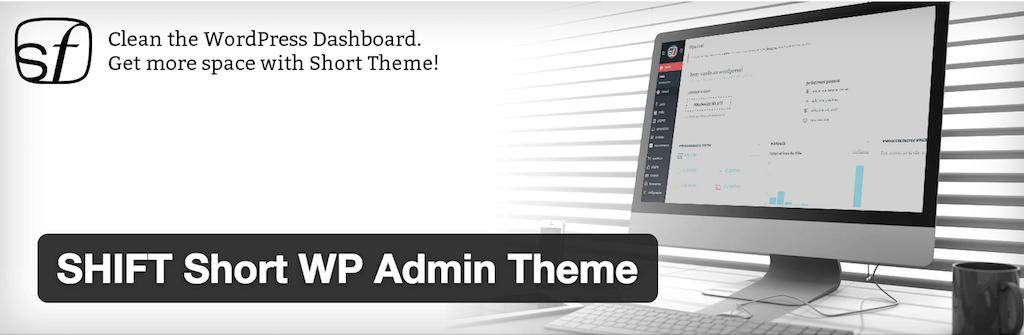 SHIFT Short WP Admin Theme — WordPress Plugins
