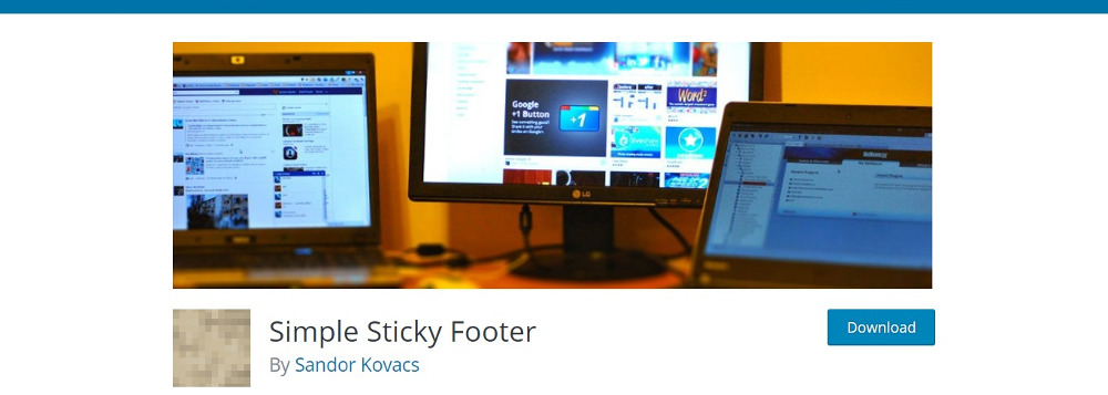 Simple Sticky Footer