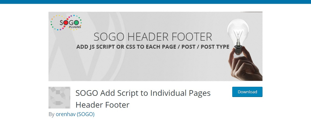 SOGO Header Footer