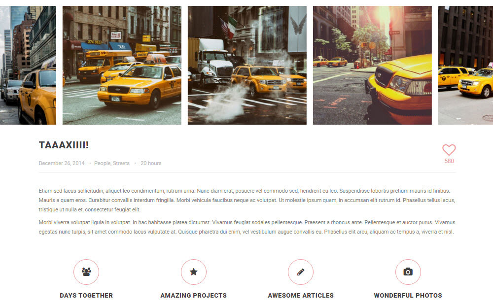 SOHO WordPress Theme Review Album Taxi