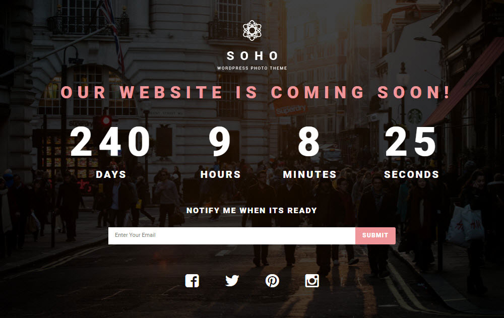 SOHO WordPress Theme Review Coming Soon