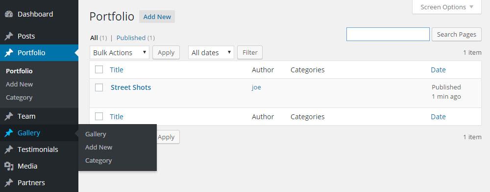 SOHO WordPress Theme Review Custom Post Types
