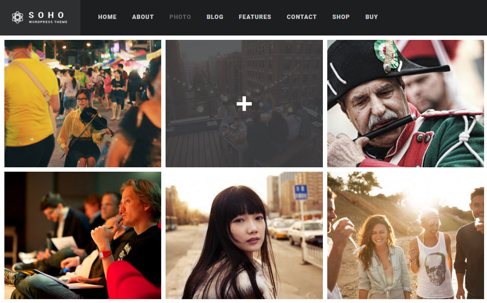 SOHO WordPress Theme Review Gallery Grid