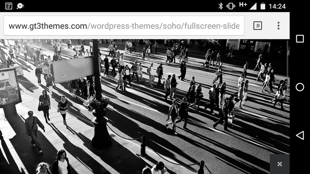 SOHO WordPress Theme Review Mobile