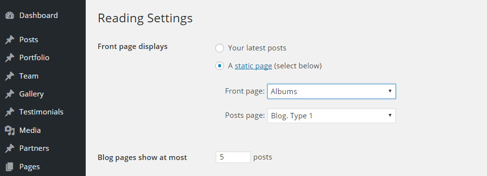 SOHO WordPress Theme Review Settings