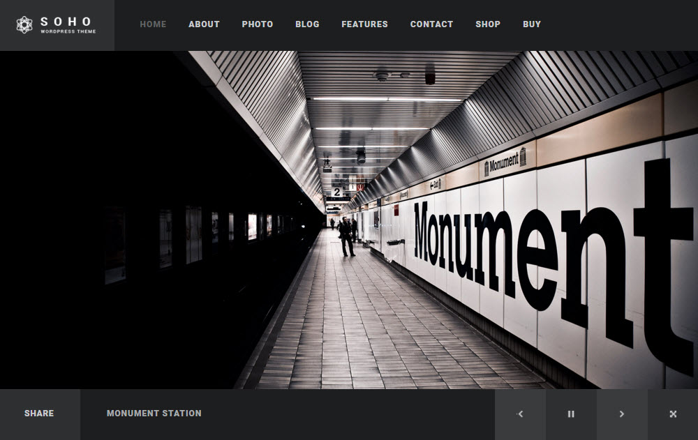 SOHO WordPress Theme Review Slider