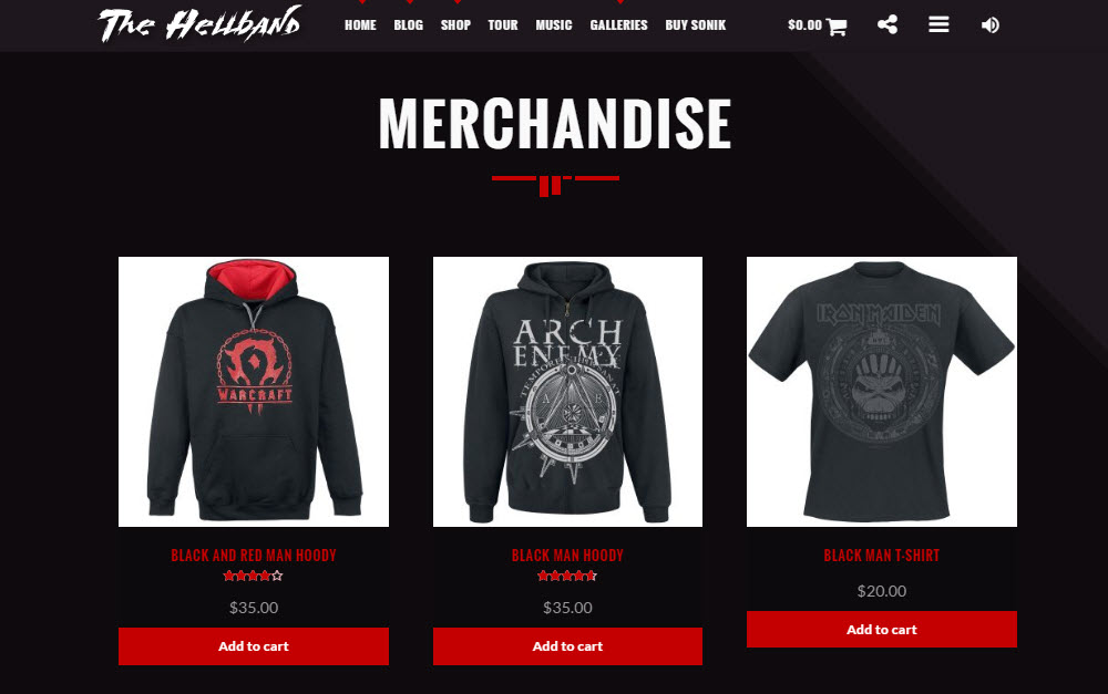 SONIK Demo 02 Shop