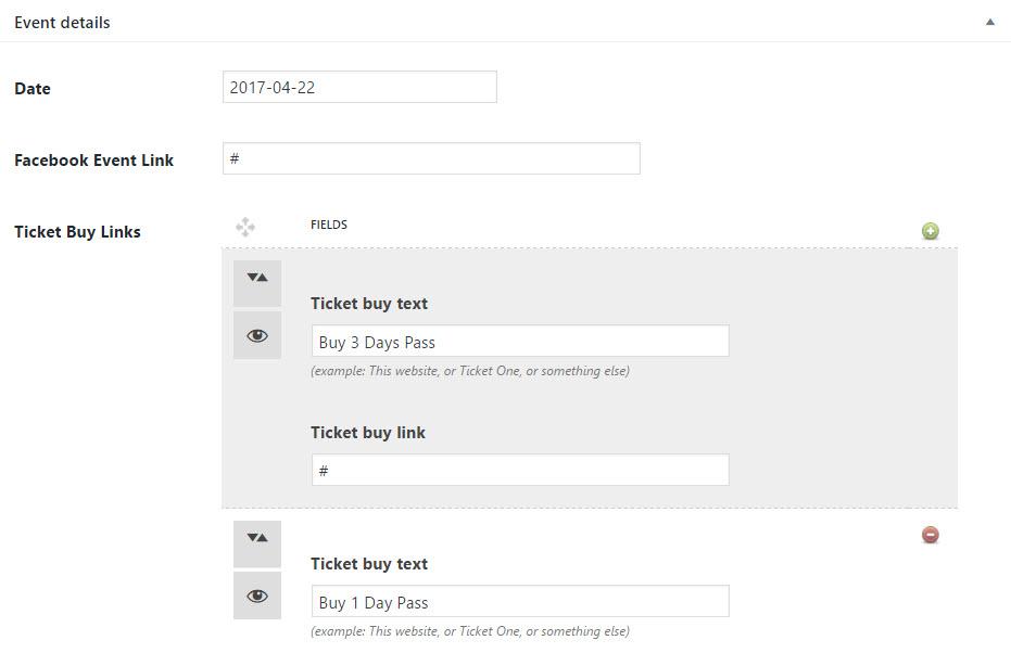 SONIK Event Post Type