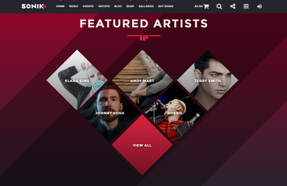 SONIK Featured Artists
