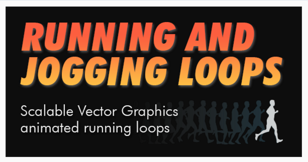 SVG Running and Jogging Loops