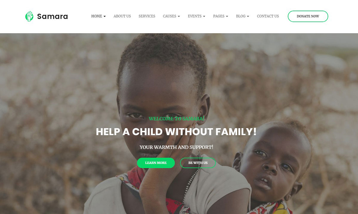 Samara website Template for non-profit organizations image