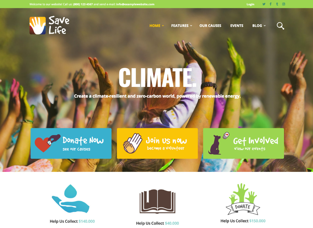 Save Life | Non-Profit, Charity & Donations WordPress Theme